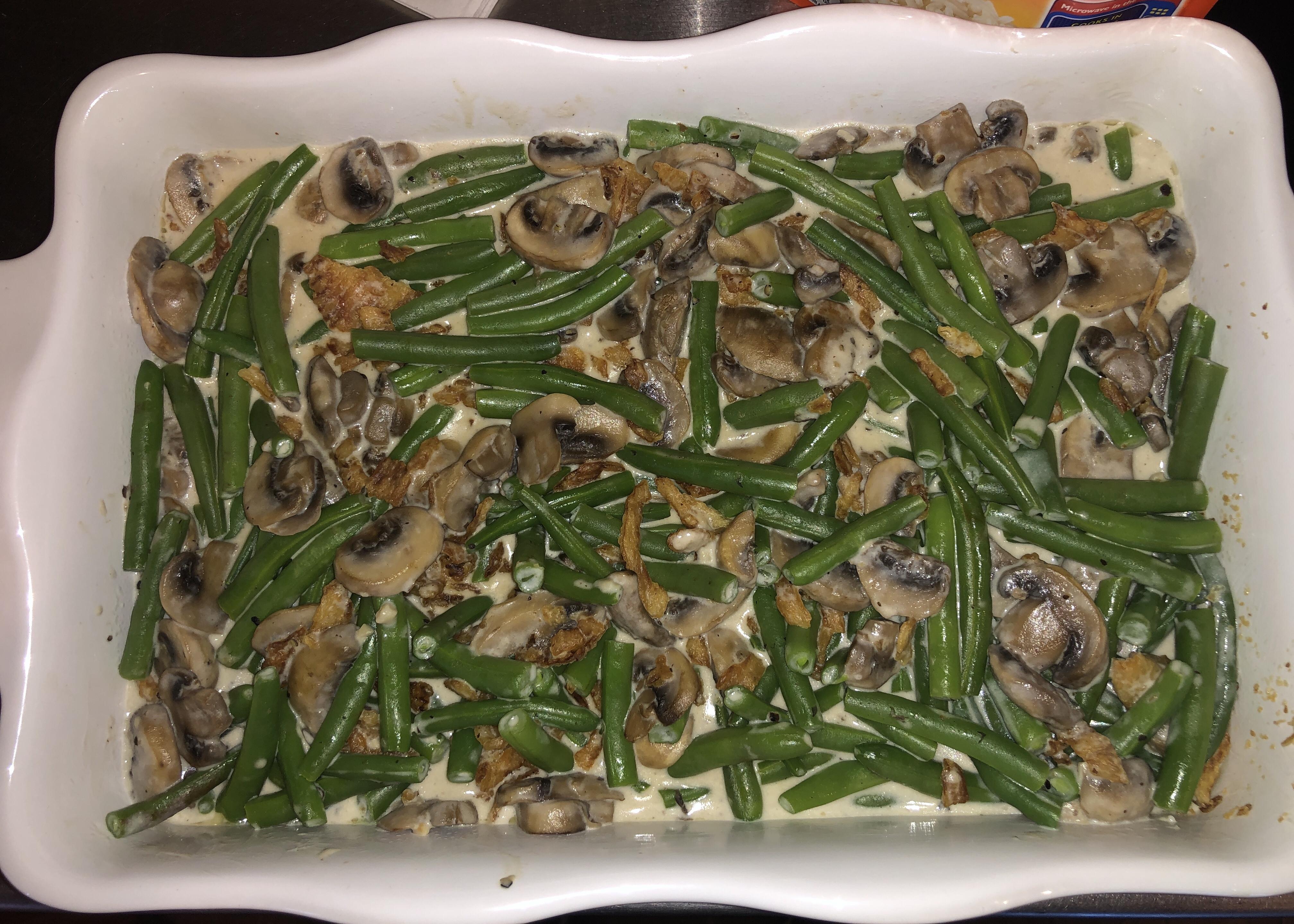Creamy Roasted Mushroom Soup / Green bean Casserole