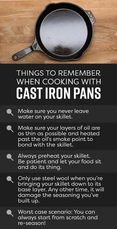 Proper Cast Iron Pan usage